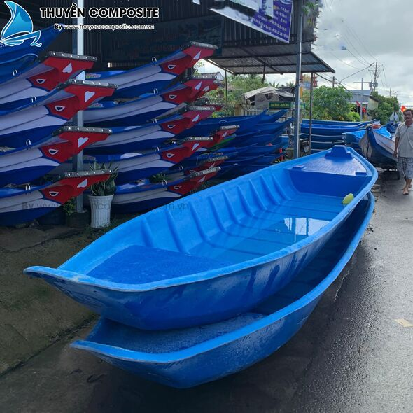 xuồng conposite gắn máy, thuyền câu cá composite gắn máy, thuyền composite